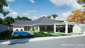 plot floor plans thai country homes the main area house which includes kitchen dining and living room open plan this villa also has separate laundry office