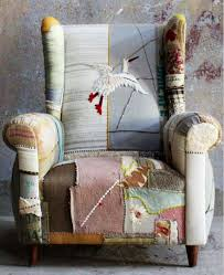 ideas for using vintage fabric u2013 patchwork chairs ali vintage fabric