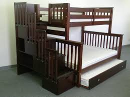 Bunk Bed With Stairs And Trundle Bunk Beds Twin Over Full Stairway Cappuccino Trundle Bunk Bed