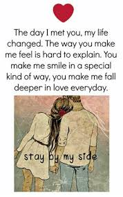 Love Of My Life Meme - the day i met you my life changed the way you make me feel is hand
