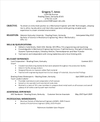 Resume Sample Of Mechanical Engineer Download Resume Templates 35 Free Word Pdf Document Download