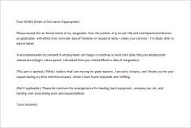 formal resignation letter template u2013 10 free word excel pdf