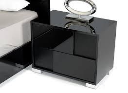 Black Bedroom Set With Armoire Captivating Modern Black Nightstands Great Bedroom Design Ideas