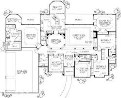 5 bedroom house floor plans 3082 5 bedroom ranch with master on opposite side of house from