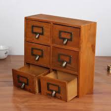Small Desk Organizer Wooden Storage Box Desk Organizer Multi Functional Wooden Storage