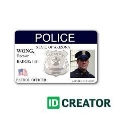 horizontal police badge contact us at 1 855 make ids