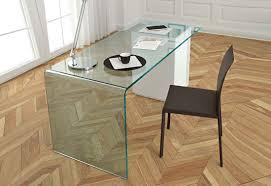 Glas Desk Rialto L Glass Desk By Fiam Glassdomain