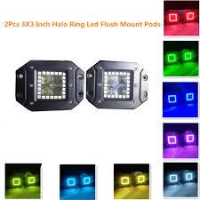 2 inch led spot light night break light 12w 3x3 inch remote controller flush mount led