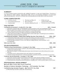 Resume Core Competencies Examples by Download Cna Resume Sample Haadyaooverbayresort Com
