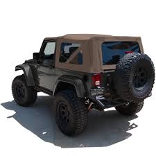 tan jeep wrangler 2 door replacement jeep wrangler soft top for the 2010 2015 jk 2 door