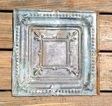 vintage pressed tin ceiling tile 12in by 12in grade b 13 00 via
