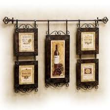 wall art ideas design wine hanging french country wall art