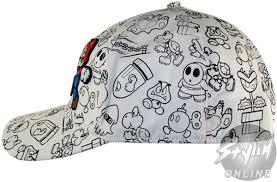 mario sketch hat