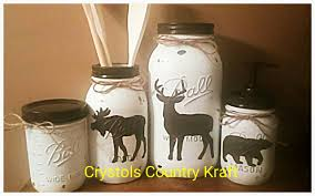 deer moose bear kitchen canister set jar set brown