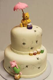 winnie the pooh baby shower cake layers of winnie the pooh shower cake