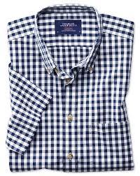 classic fit button down non iron poplin short sleeve navy blue