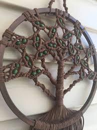 macrame tree of tree dreamcatcher macrame wall hanging
