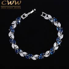 sapphire crystal bracelet images Buy cwwzircons the new 2018 summer design white jpg