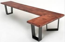 Wood Bench With Metal Legs Bench 48 Reclaimed Wood Metal Legs Aftcra Intended For Elegant