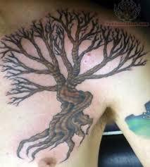 tree chest tattoos