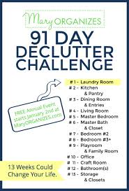 Housekeeping Tips by 2017 Declutter Challenge Starts January 2nd Declutter