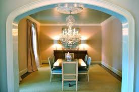 katherine connell interior design pink dining room arch walls