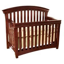 westwood stratton 4 n 1 crib with guard rail virginia cherry