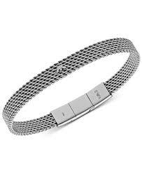 armani bracelet silver images Emporio armani men 39 s stainless steel mesh logo bracelet egs2140 in jpeg