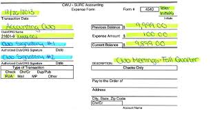 surc accounting expense forms