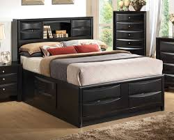 queen storage bed bookcase headboard frame base australia bedroom