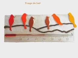 thermometre chambre enfant thermomètre chambre d enfant silhouette d oiseaux sur