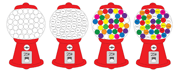 Matching Colors Gumball Machine Color Matching With Craft Pom Poms Repeat Crafter Me