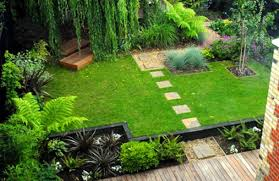 natural green nuance of the home landscape design plans can be