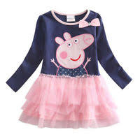 new peppa pig girls kids cotton striped long sleeve tutu skirts