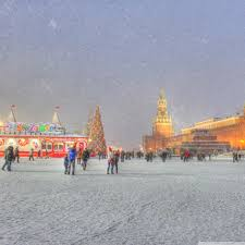 Google Russia by Red Square Moscow Russia Winter Holidays Hd Desktop Wallpaper