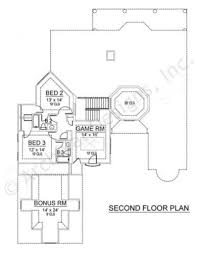 2nd Floor House Plan by Spanish Bay Courtyard House Plan Texas Style House Plan