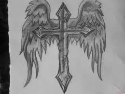 angel wings cross tattoo design tattoo viewer com