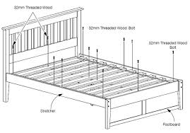 Assembling A Bed Frame Assembly Of Bed Rails Slats And E King