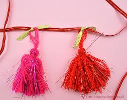 pink garland shimmering pink tassel garland step 3a the inspiration vault