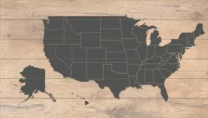 United States Map Com by Map Of The United States Printed On Wood Black 100 Free Pins Or