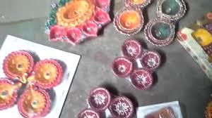 colorful diwali decorative clay diya color at home youtube