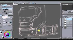 truck design outline sketch youtube