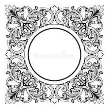 vintage imperial baroque mirror frame vector luxury