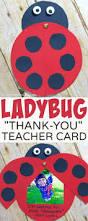 ladybug teacher thank you card the soccer mom blog
