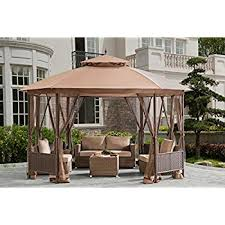 Patio Gazebo Sunjoy Octagonal Patio Softtop Gazebo With Netting