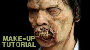 how to become a zombie with halloween prosthetics youtube