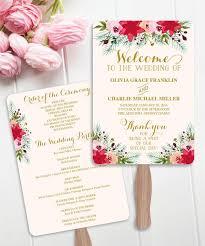 Wedding Ceremony Program Fans 50 Unforgettable Ideas For Your Wedding Programs Le Menu Menus