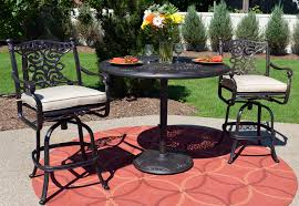 Bar Height Patio Furniture by Serena Luxury 3 Piece All Welded Cast Aluminum Patio Furniture Bar
