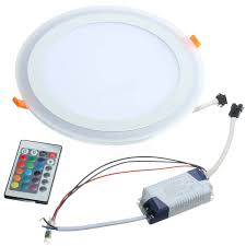 18w rgb dual color led recessed ceiling round panel down light