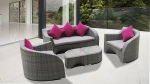 canapé de jardin design usun salon de jardin design kähres